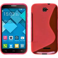 Housse etui coque silicone gel pour Alcatel One Touch Pop C7 7041D + film ecran - ROSE