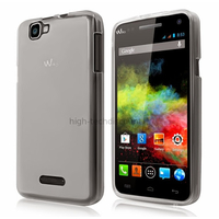 Housse etui coque pochette silicone gel fine pour Wiko Rainbow 4G + film ecran - BLANC TRANSPARENT