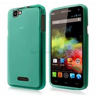 Housse etui coque pochette silicone gel fine pour Wiko Rainbow 4G + film ecran - BLEU CLAIR