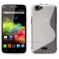 Housse etui coque silicone gel fine pour Wiko Rainbow 4G + film ecran - TRANSPARENT SLINE