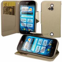 Housse etui coque pochette portefeuille pour Acer Liquid E2 Duo + film ecran - BLANC
