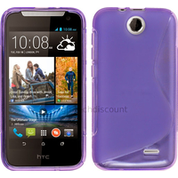 Housse etui coque pochette silicone gel fine pour HTC Desire 310 + film ecran - MAUVE