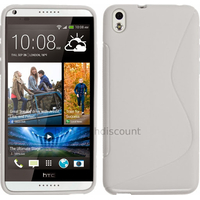 Housse etui coque pochette silicone gel fine pour HTC Desire 816 + film ecran - BLANC