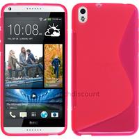 Housse etui coque pochette silicone gel fine pour HTC Desire 816 + film ecran - ROSE