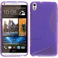 Housse etui coque pochette silicone gel fine pour HTC Desire 816 + film ecran - MAUVE