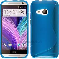 Housse etui coque pochette silicone gel fine pour HTC One Mini 2 + film ecran - BLEU