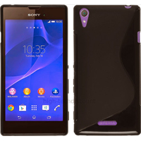 Housse etui coque pochette silicone gel fine pour Sony Xperia T3 + film ecran - NOIR