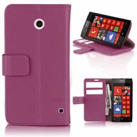 Housse etui coque pochette portefeuille PU cuir pour Nokia Lumia 630 635 + film ecran - MAUVE
