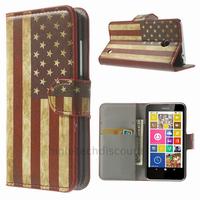 Housse etui coque pochette portefeuille PU cuir pour Nokia Lumia 630 635 + film ecran - USA