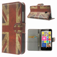Housse etui coque pochette portefeuille PU cuir pour Nokia Lumia 630 635 + film ecran - UK