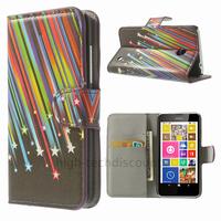 Housse etui coque pochette portefeuille PU cuir pour Nokia Lumia 630 635 + film ecran - ETOILES