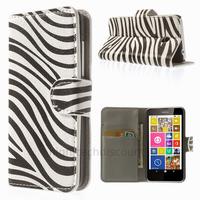 Housse etui coque pochette portefeuille PU cuir pour Nokia Lumia 630 635 + film ecran - ZEBRE