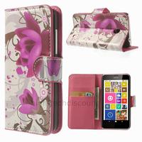 Housse etui coque pochette portefeuille PU cuir pour Nokia Lumia 630 635 + film ecran - LOTUS