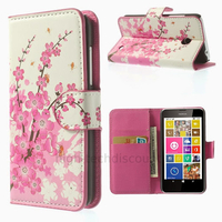 Housse etui coque pochette portefeuille PU cuir pour Nokia Lumia 630 635 + film ecran - CERISIER