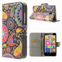 Housse etui coque pochette portefeuille PU cuir pour Nokia Lumia 630 635 + film ecran - PAISLEY