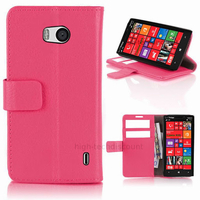 Housse etui coque pochette portefeuille PU cuir pour Nokia Lumia 930 + film ecran - ROSE