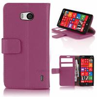 Housse etui coque pochette portefeuille PU cuir pour Nokia Lumia 930 + film ecran - MAUVE