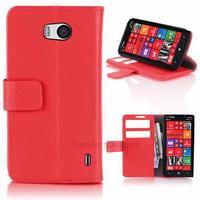 Housse etui coque pochette portefeuille PU cuir pour Nokia Lumia 930 + film ecran - ROUGE