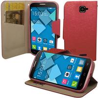 Housse etui coque pochette portefeuille pour Alcatel One Touch Pop C7 7041D + film ecran - ROSE