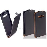 Housse etui coque pochette PU cuir fine pour Samsung G530H Galaxy Grand Prime + film ecran - NOIR
