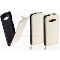 Housse etui coque pochette PU cuir fine pour Samsung G357 Galaxy Ace 4 4G + film ecran - BLANC