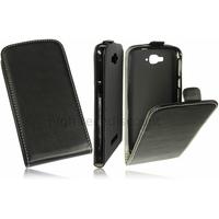 Housse etui coque pochette PU cuir fine pour Alcatel One Touch Pop C7 7041D + film ecran - NOIR