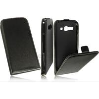 Housse etui coque pochette PU cuir fine pour Alcatel One Touch Pop C9 7047D + film ecran - NOIR