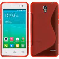 Housse etui coque silicone gel fine pour Alcatel One Touch Pop S3 5050D + film ecran - ROUGE