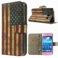 Housse etui coque portefeuille PU cuir pour Samsung g3500 Galaxy Core Plus + film ecran - USA