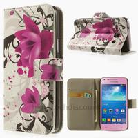 Housse etui coque portefeuille PU cuir pour Samsung g3500 Galaxy Core Plus + film ecran - LOTUS
