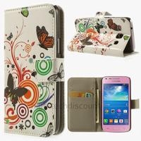Housse etui coque portefeuille PU cuir pour Samsung g3500 Galaxy Core Plus + film ecran - PAPILLONS