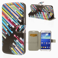 Housse etui coque portefeuille PU cuir pour Samsung g7105 Galaxy Grand 2 + film ecran - ETOILES