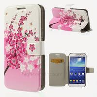 Housse etui coque portefeuille PU cuir pour Samsung g7105 Galaxy Grand 2 + film ecran - CERISIER