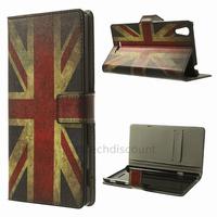 Housse etui coque pochette portefeuille PU cuir pour Sony Xperia T3 + film ecran - UK