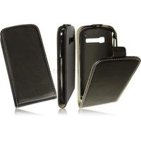 Housse etui coque pochette PU cuir fine pour Alcatel One Touch Pop C5 5036D + film ecran - NOIR