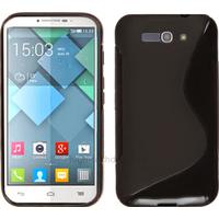 Housse etui coque silicone gel fine pour Alcatel One Touch Pop C9 7047D + film ecran - NOIR