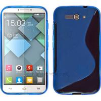 Housse etui coque silicone gel fine pour Alcatel One Touch Pop C9 7047D + film ecran - BLEU