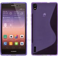 Housse etui coque pochette silicone gel fine pour Huawei Ascend P7 + film ecran - MAUVE