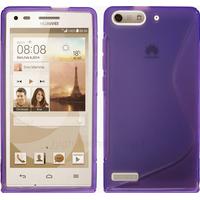 Housse etui coque silicone gel fine pour Huawei Ascend G6 (P6 Mini) + film ecran - MAUVE