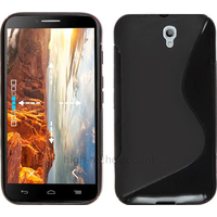 Housse etui coque silicone gel fine pour Alcatel One Touch Idol 2 6037 + film ecran - NOIR