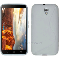 Housse etui coque silicone gel fine pour Alcatel One Touch Idol 2 6037 + film ecran - BLANC