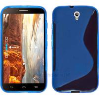 Housse etui coque silicone gel fine pour Alcatel One Touch Idol 2 6037 + film ecran - BLEU