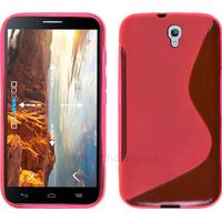 Housse etui coque silicone gel fine pour Alcatel One Touch Idol 2 6037 + film ecran - ROSE