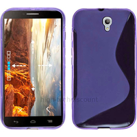 Housse etui coque silicone gel fine pour Alcatel One Touch Idol 2 6037 + film ecran - MAUVE