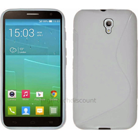 Housse etui coque pochette silicone gel fine pour Alcatel One Touch Idol 2S 6050 - BLANC