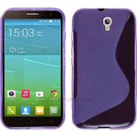 Housse etui coque pochette silicone gel fine pour Alcatel One Touch Idol 2S 6050 - MAUVE