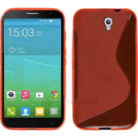 Housse etui coque pochette silicone gel fine pour Alcatel One Touch Idol 2S 6050 - ROUGE