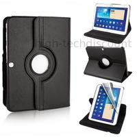 Housse etui coque pochette PU cuir pour Samsung Galaxy Tab 4 10.1 T530 + film ecran - NOIR