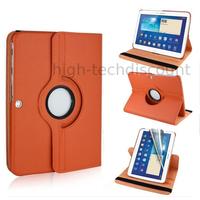 Housse etui coque pochette PU cuir pour Samsung Galaxy Tab 4 10.1 T530 + film ecran - ORANGE