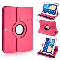Housse etui coque pochette PU cuir pour Samsung Galaxy Tab 4 10.1 T530 + film ecran - ROSE